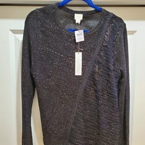 Woven Mixed Pullover Sweater